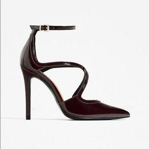 Zara Strappy Patent Finish High Heel